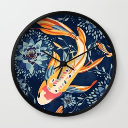 The Lotus Pond Wall Clock