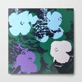Flowers Pop Art 12 Metal Print