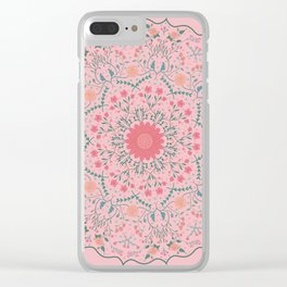 Flower Rounds Mandala Clear iPhone Case