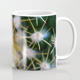 Close-up view of the glochids of a bright green cactus Coffee Mug