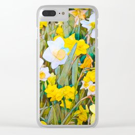 Daffodils 13 Clear iPhone Case