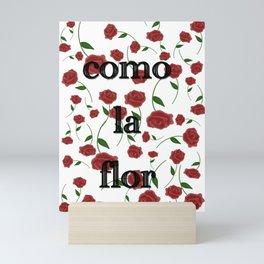 Como la flor Selena roses design Mini Art Print