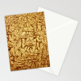 Gold Waves and Ripples Textured Wavelet Paint Art Stationery Cards