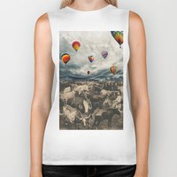hot air balloons Biker Tanks featuring Balloons by Mrs Araneae
