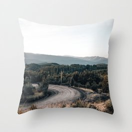 road to Cerro chapelco Throw Pillow