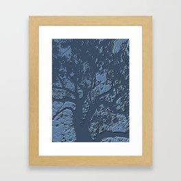 Blue Tree. Framed Art Print