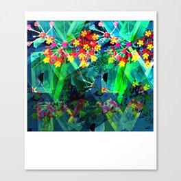 flowerdarners collage leggings Canvas Print