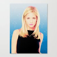 buffy the vampire slayer Canvas Prints featuring Buffy the Vampire Slayer, Cross by Your Friend Elle