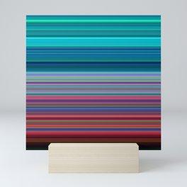 Blurry Saturn Stripes Mini Art Print