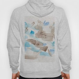 180714 Abstract Waterolour Blue Brown 21 Hoody