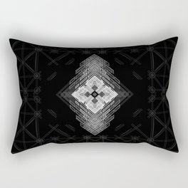 White fractal geometric shapes with compass symbol Rectangular Pillow