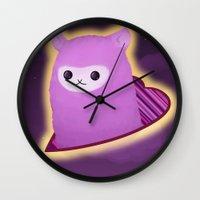 alpaca Wall Clocks featuring Alpaca by Domi