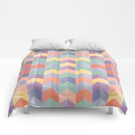 Colorful geometric blocks Comforters