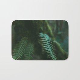 redwood forest fern Bath Mat
