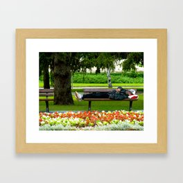 Just Chillin Framed Art Print