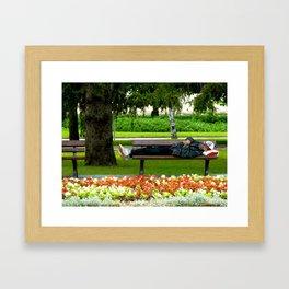 Just Chillin Framed Art Print