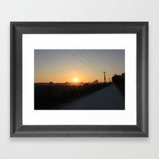 backroad sunset Framed Art Print