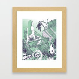 Under water life Framed Art Print