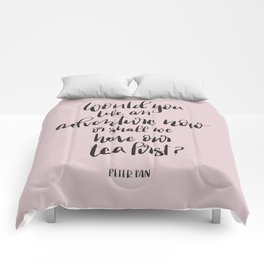 Would you like an adventure now, Peter Pan Quote Comforters