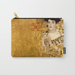 Woman in Gold Portrait by Gustav Klimt Carry-All Pouch