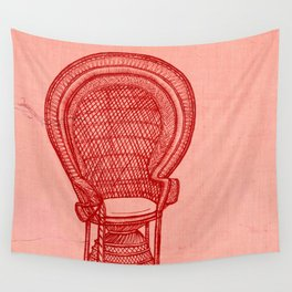 Wicker Chair Wall Tapestry