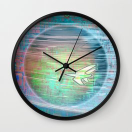 Flying Around the World Wall Clock