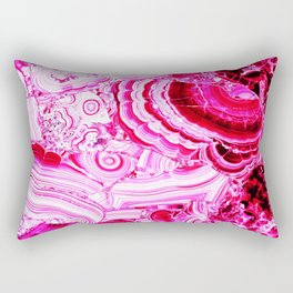 Malachite Pink Rectangular Pillow