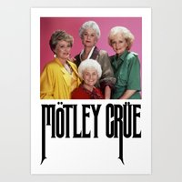 golden girls Art Prints featuring Golden Girls! Girls! Girls! by hellosailortees