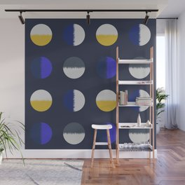 circles-blue yellow Wall Mural