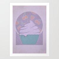cupcake Art Prints featuring Cupcake by Perdita