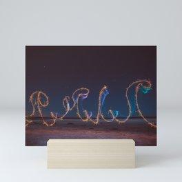 Fireworks at salar Mini Art Print