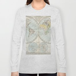 Old Map of The Globe Long Sleeve T-shirt