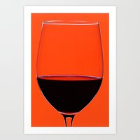 Red Wine Glass Art Print