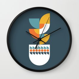 Geometric Plant 02 Wall Clock