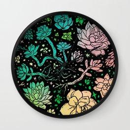 Succulent Supercluster Wall Clock