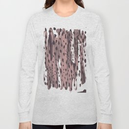 Rose and Dark Violet Long Sleeve T-shirt