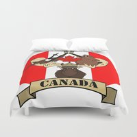 canada Duvet Covers featuring CANADA by scarah