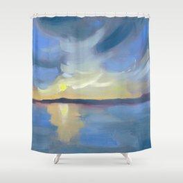 Pōneke Wellington Harbour Shower Curtain