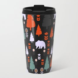 Bear forest at night Travel Mug