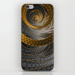 Banded Dragon Scales of Black, Gold, and Yellow iPhone Skin