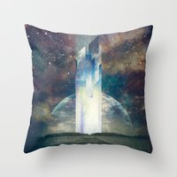 fault Throw Pillows featuring It´s your fault by HappyMelvin