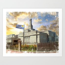 Montevideo Uruguay LDS Temple Art Print
