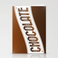 chocolate Stationery Cards featuring Chocolate by Rhys Jenkins