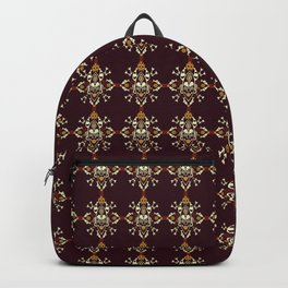 African Tribal mask ethnic on dark Backpack