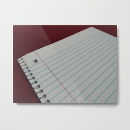 Staring Down the Notebook Metal Print