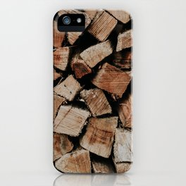 Chopped Firewood Stack iPhone Case