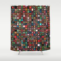 mosaic Shower Curtains featuring Mosaic by Lyle Hatch