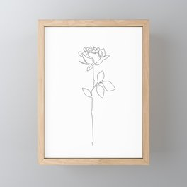 Fragile Rose Framed Mini Art Print