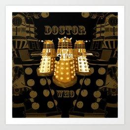 Doctor Who Said Ex Art Print