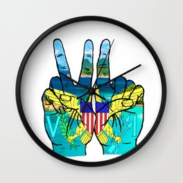VI island hands Wall Clock